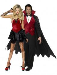Elegante vampier koppel outfit voor volwassenen