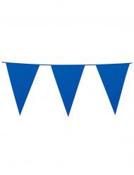 Blauwe vlaggetjesslinger