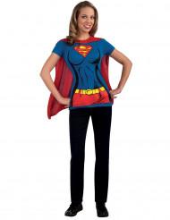 Supergirl™-kostuum voor volwassenen T-shirt