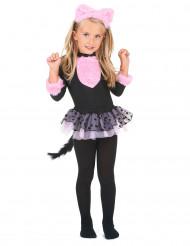 Roze tutu katten kostuum voor meisjes