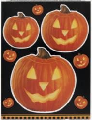 Halloweenraamstickers met pompoenen