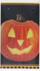 Plastic Halloween pompoen tafelkleed