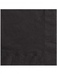 20 zwarte papieren servetten