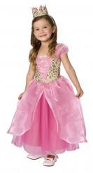 Stijlvol barokke roze prinses kostuum voor meisjes