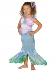 Roze met blauw zeemeermin kostuum voor meisjes