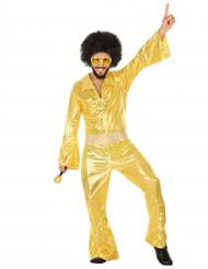 Goudkleurig discopak voor mannen