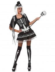 Sexy skeletpak voor vrouwen