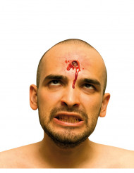 Kogelinslag nepwond voor gezicht