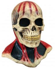 Masker van een met bloed bevlekt skelet voor volwassenen Halloween