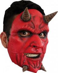 Masker van een gekke demon voor volwassenen Halloween