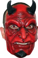 Duivels masker met horens voor volwassenen Halloween.