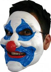 Masker van een blauwe clown voor volwassenen Halloween