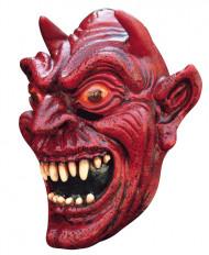 Masker van een rode demon voor volwassenen Halloween