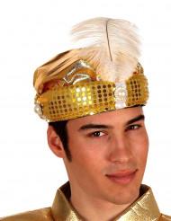 Goudkleurige Arabische hoed voor volwassenen