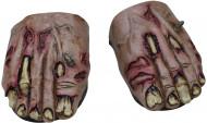 Overschoenen in de vorm van zombievoeten voor volwassenen Halloween