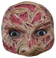 Halfmasker van een verbrand gezicht voor volwassenen (Halloween)
