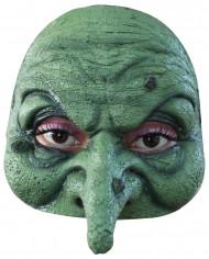 Halfmasker van een heks voor volwassenen (Halloween)