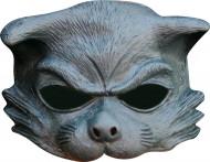 Halfmasker van een grijze kat voor volwassenen