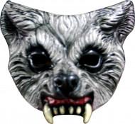 Halfmasker van een bloeddorstige wolf voor volwassenen (Halloween)