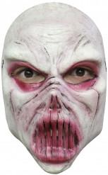 Wit monstermasker voor volwassenen Halloween