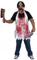 Bebloede slagersschort voor volwassenen (Halloween)