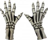 Witte skelethandschoenen voor volwassenen Halloween