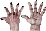 Handschoenen van een monster met lichte huid voor volwassenen Halloween