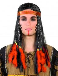 Indianenpruik met hoofdband voor mannen