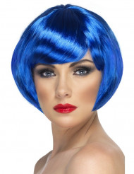 Korte blauwe pruik voor vrouwen