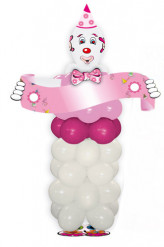 Roze magische clown-kit