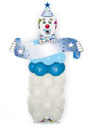 Blauwe magische clown-kit