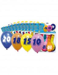 10 ballonnen met leeftijdsopdruk 50 jaar
