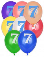 10 ballonnen cijfer 7