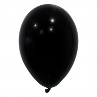 24 zwarte ballonnen van 25 cm