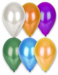12 metallic ballonnen in verschillende kleuren