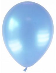 12 gemetalliseerde lichtblauwe ballonnen
