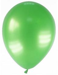 12 gemetalliseerde groene ballonnen