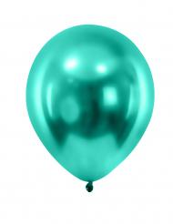 12 gemetalliseerde donkergroene ballonnen