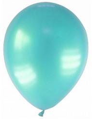 12 gemetalliseerde turkooizen ballonnen