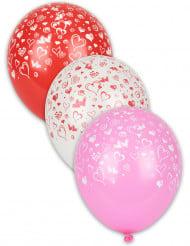 8 ballonnen met hartenopdruk