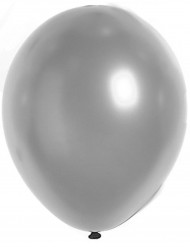 100 zilverkleurige metallieken ballonnen van 29 cm