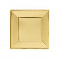 Set van goudkleurige vierkant borden