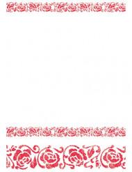 Rood arabesk tafelkleed