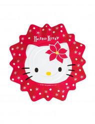 Set Hello Kitty™ kerstmis borden  21 cm