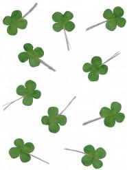 Set van 12 groene klavers