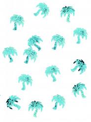 Tafel confetti in vorm van palmboompjes appelblauwzeegroen