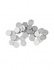 Ronde tafel confetti zilver