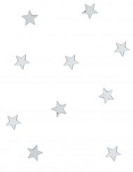 10 Mini zilverkleurige ster spiegels