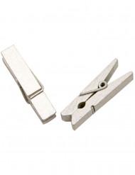 Zilveren wasknijpers 25 stuks
