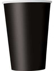 Zwarte wegwerp bekers van karton
